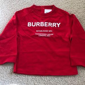 Burberry kids branded long sleeve tee